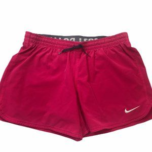 Women Nike 2 in 1 Dry Fit Pink Shorts
